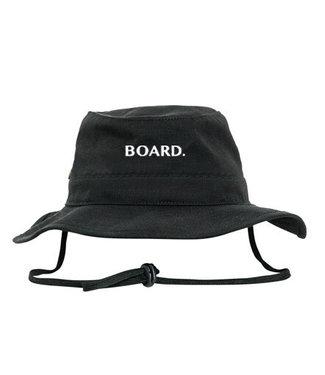 BOARD. Bucket hat van Poederbaas logo - zwart