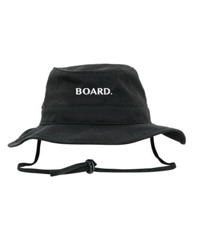 BOARD. Bucket hat from Poederbaas logo - black