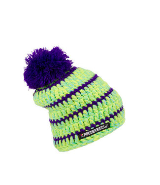 Baby hat - green / purple / blue