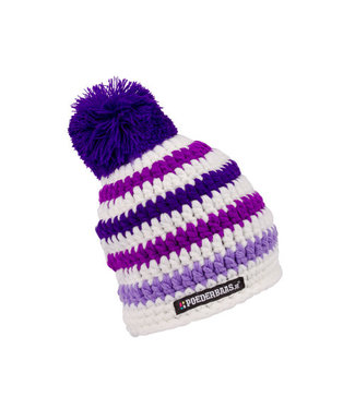 Colorful baby hat - purple / white