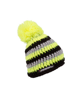 Baby hat colorful - yellow / black / gray