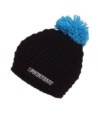 Gehäkelter dunkler Hut - schwarz