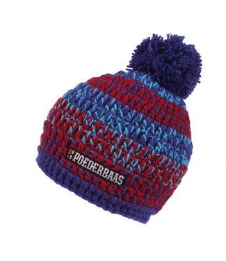 Melierter Hut - lila / rot / blau