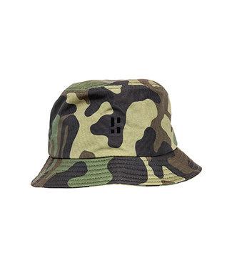 Camo Bucket Hat met PB Logo (geborduurd)