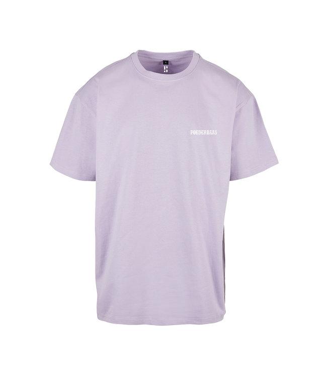 'Poederbaas' T-Shirt - Lilac Purple (Embroidered)