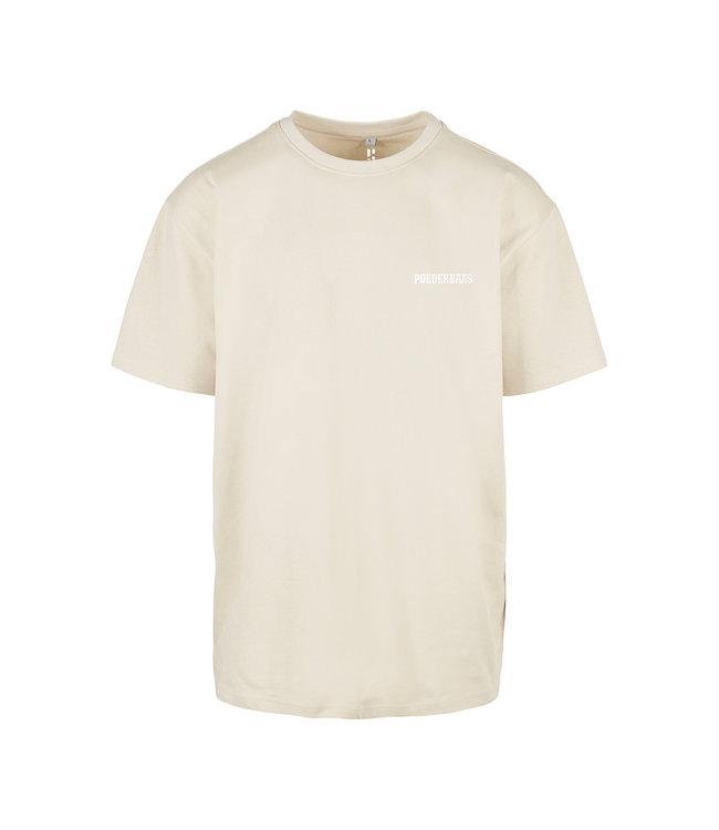'Poederbaas' T-Shirt - Beige (Gestickt)