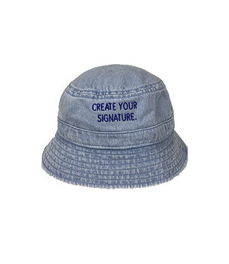 "Blue ""Create Your Signature"" Bucket Hat (embroidered)"