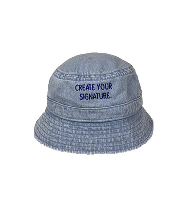 """Blue """"Create Your Signature"""" Bucket Hat (embroidered)"""