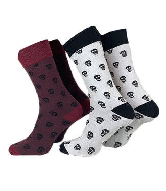 Schadelmaske-Socken-2er-Pack