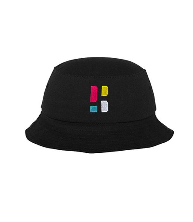 Bunter PB Logo Bucket Hat - Schwarz