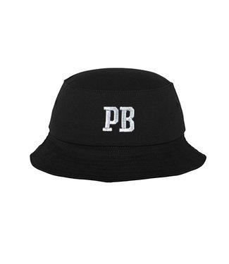 Geborduurde Zwarte PB  Bucket Hat