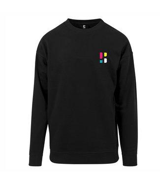 Colorful PB logo Crewneck - Black (Embroidered)