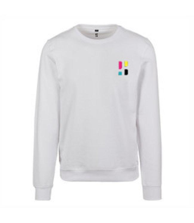 Colorful PB logo Crewneck - White (Embroidered)