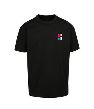 Kleurrijk PB Logo T-shirt - Zwart (Geborduurd)
