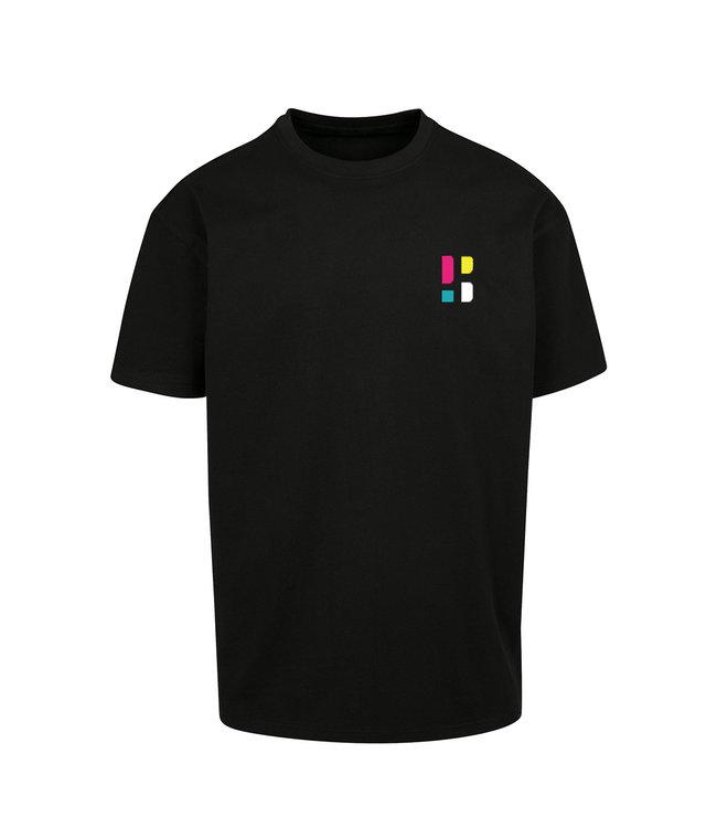 Buntes PB Logo T-Shirt - Schwarz (gestickt)
