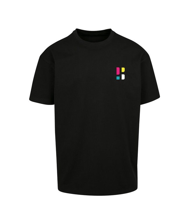 Colorful PB Logo T-shirt - Black (Embroidered)