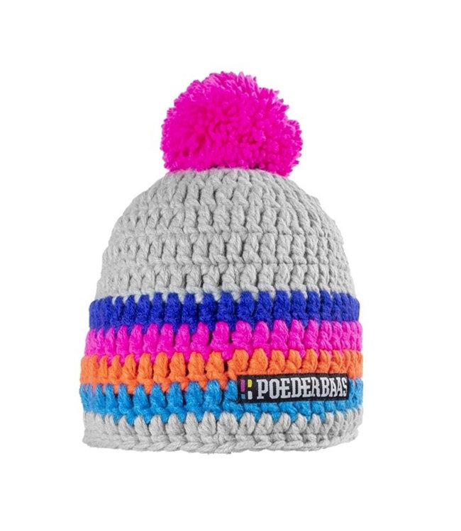 Bunter Hut - grau / pink / orange / blau