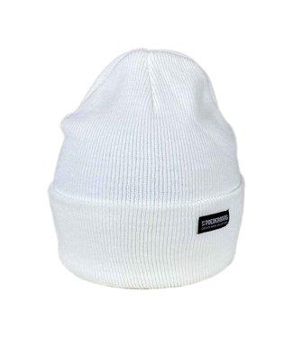 Snowy white beanie - long fit