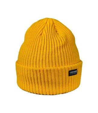 The Royal Gold rib beanie - yellow