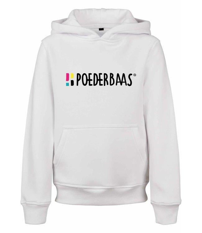 Witte hoodie voor kids van Poederbaas