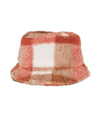 Sherpa Bucket Hat - Salmon Pink
