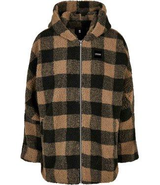 Oversized Sherpa jacket - Brown