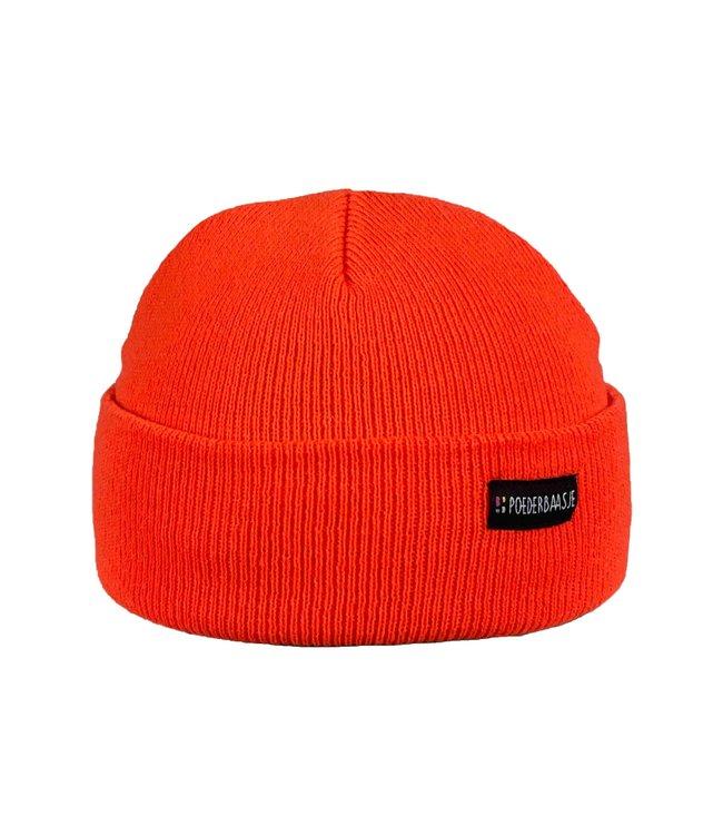 Blaze orange kids beanie
