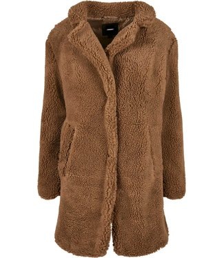 Oversized Sherpa Coat - Sepia Brown