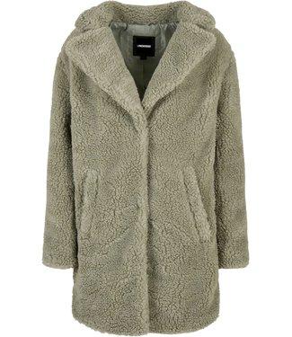 Oversized Sherpa Coat - Olive Green