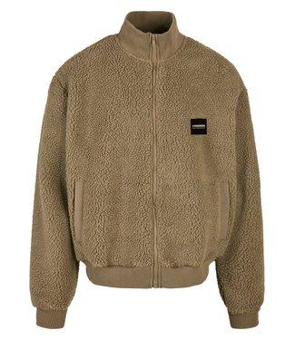 Boxy Sherpa jacket - Bronze Olive