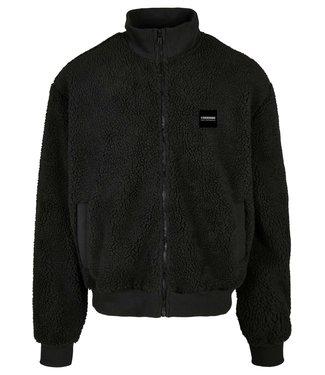 Boxy Sherpa jacket - Midnight Black