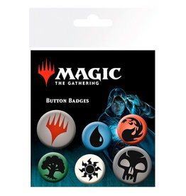 GB EYE Magic The Gathering Mana Symbols Badge set
