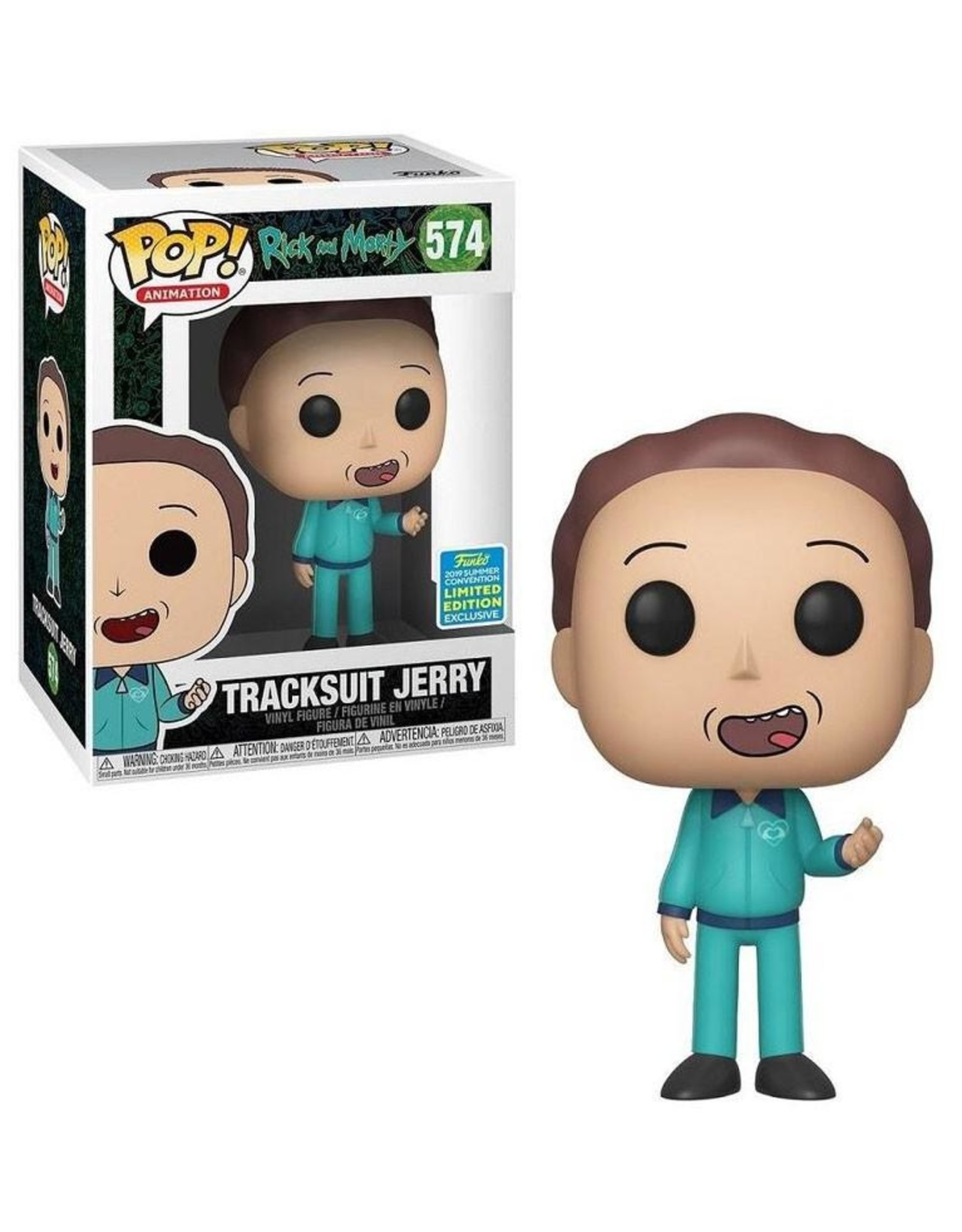 FUNKO! Animation - Rick & Morty Tracksuit Jerry SDCC Exclusive 9 cm #574