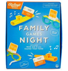 RIDLEY'S GAMES Ridley's Games kaartspel Family Games Night set papier blauw