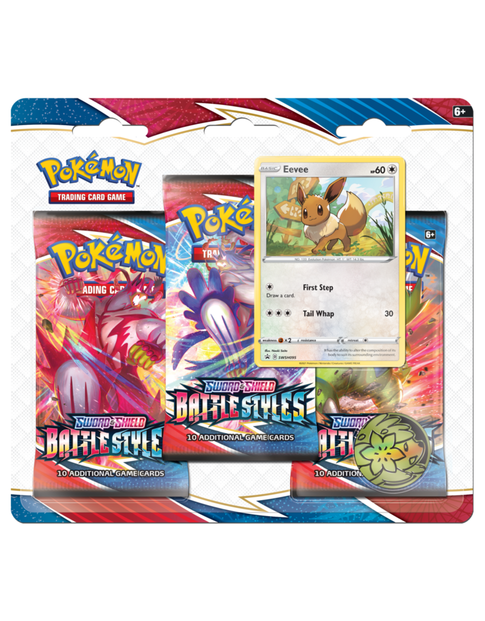 THE POKEMON COMPANY Sword & Shield: Battle Styles 3-Pack booster blister