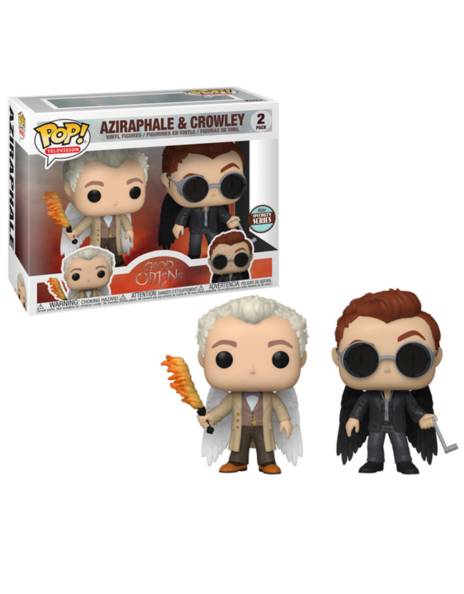 FUNKO! Speciality Series - Good Omens Aziraphel & Crowley w/wings 2-Pack *PREORDER*