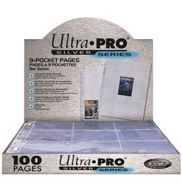 ULTRA PRO 9 - Pocket paginas voor TCG kaarten Silver (100stuks)