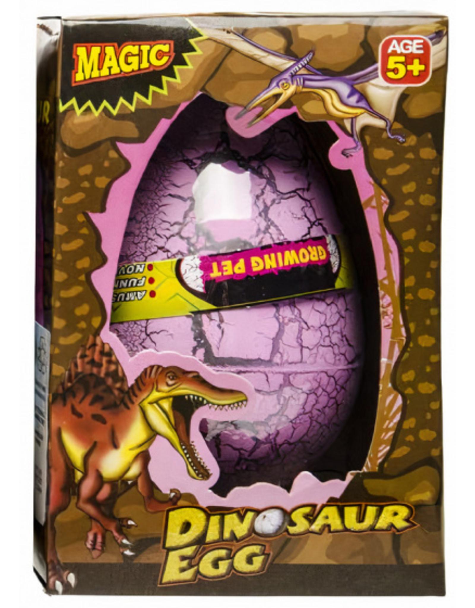 LG-IMPORTS Groei-ei dinosaurus 12 x 6,5 cm roze