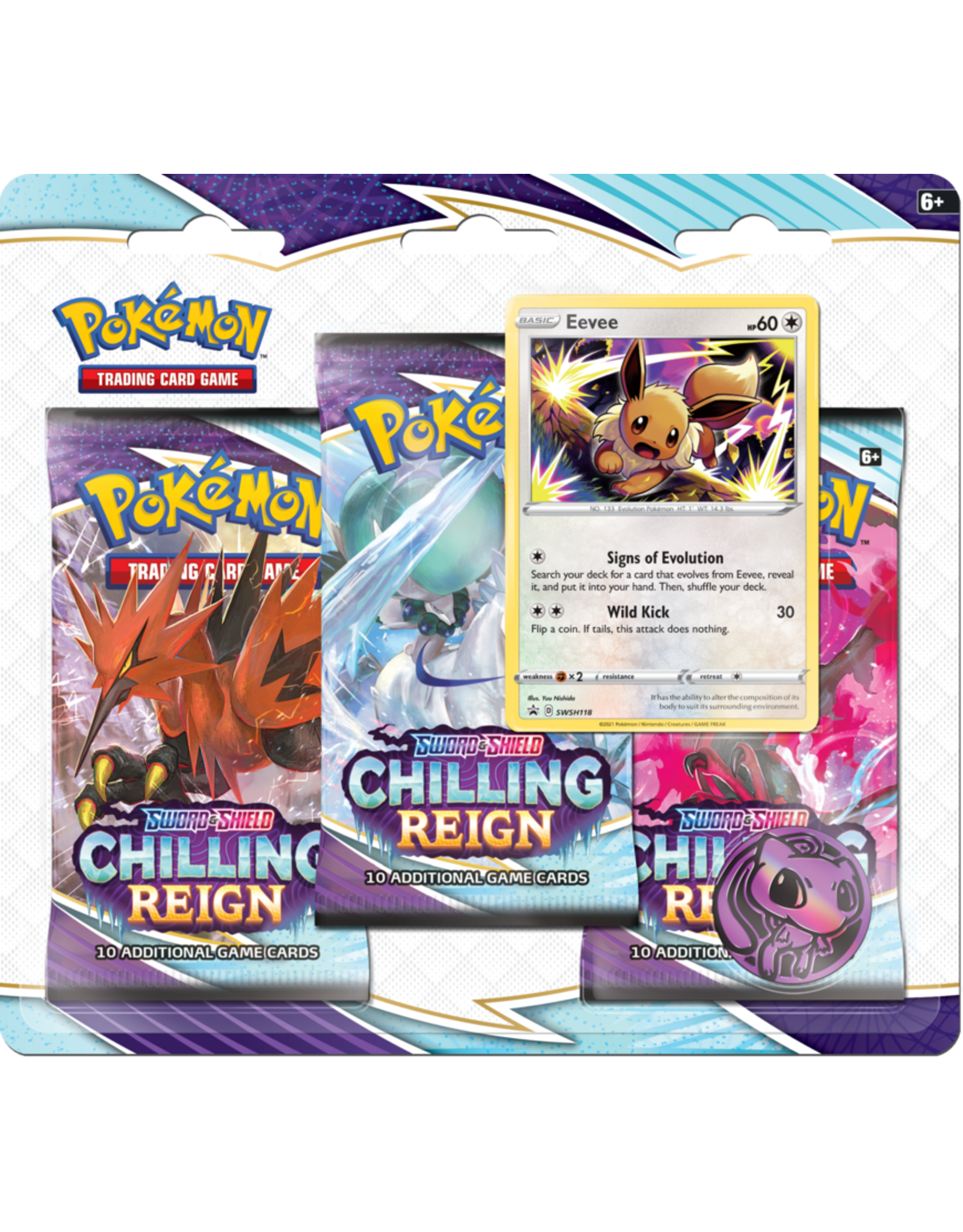 THE POKEMON COMPANY SWSH 6  Chilling Reign 3-Booster Blister