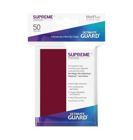 ULTIMATE GUARD Ultimate Guard Supreme UX Sleeves Standard Size Burgundy (50)