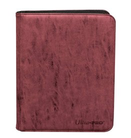 ULTRA PRO Ultra pro Zippered  Premium Pro Binder 9-Pocket Suede Collection Ruby