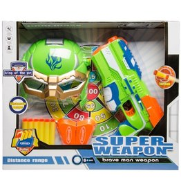 LG-IMPORTS superwapen 'Brave man' 23 cm 10-delig groen