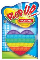 PLOP UP Plop Up! fidgetspel Heart junior 15 x 13,5 cm rubber