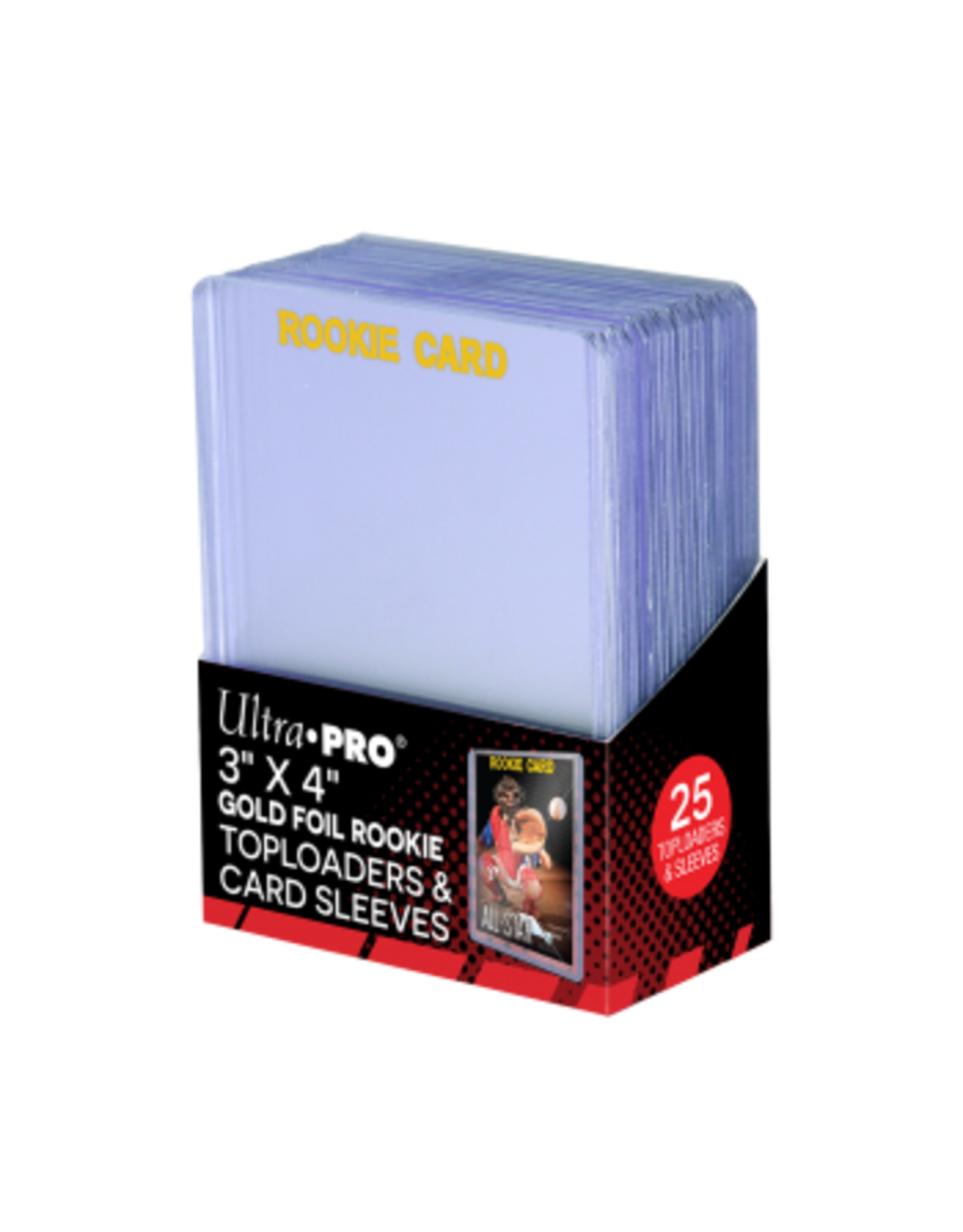 """ULTRA PRO 3"""" X 4"""" Rookie 35PT Toploader with Card Sleeves 25st"""