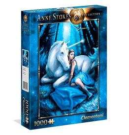 CLEMENTONI Anne Stokes Blue Moon puzzel 1000 st.