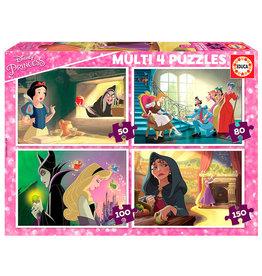 EDUCA BORRAS Disney Princess vs Villains Multi puzzel 50-80-100-150 st.