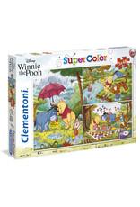 CLEMENTONI Disney Winnie the Pooh puzzel 3x48 st.
