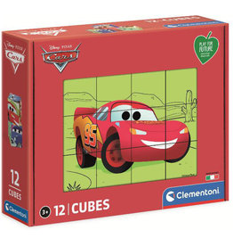 CLEMENTONI Disney Cars cube puzzel 12 st.