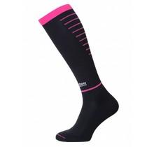 Horizon Sport Compressiekousen - Zwart / Roze