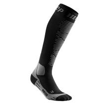 CEP Merino Skisokken met compressie - Zwart / Grijs